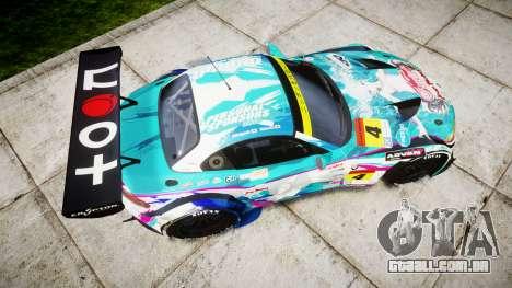 BMW Z4 GT3 2014 Goodsmile Racing para GTA 4 vista direita