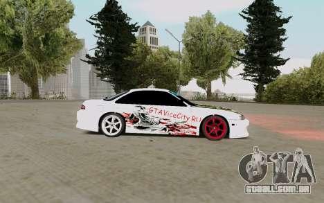 Nissan Silvia S14 VCDT para GTA San Andreas traseira esquerda vista
