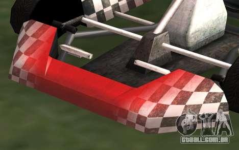 Atualizado Kart para GTA San Andreas para GTA San Andreas traseira esquerda vista