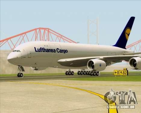 Airbus A380-800F Lufthansa Cargo para GTA San Andreas esquerda vista