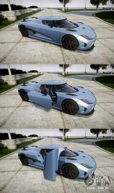 Koenigsegg Agera 2011 [EPM] [Update] para GTA 4 vista lateral
