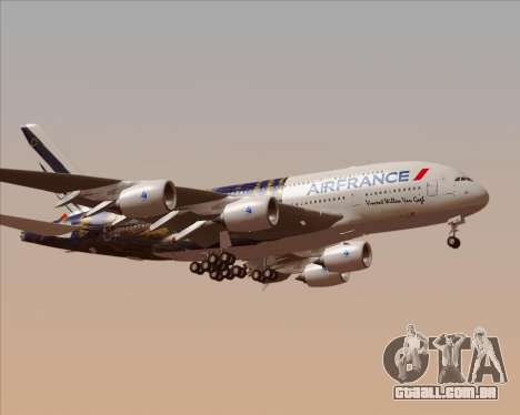 Airbus A380-800 Air France para GTA San Andreas esquerda vista