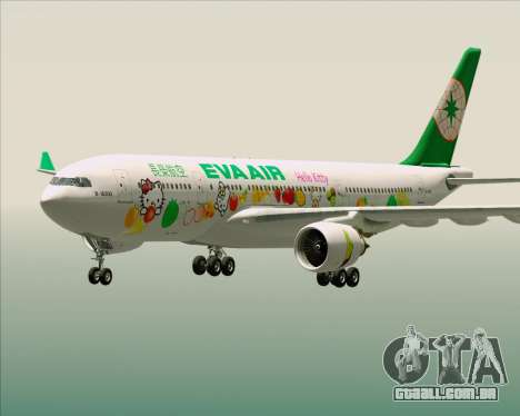 Airbus A330-200 EVA Air (Hello Kitty) para GTA San Andreas interior