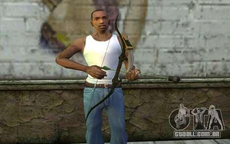 Green Arrow Bow v2 para GTA San Andreas terceira tela