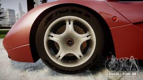 Mclaren F1 1993 [EPM] para GTA 4 vista de volta