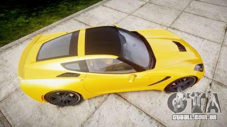 Chevrolet Corvette C7 Stingray 2014 v2.0 TireCon para GTA 4 vista direita