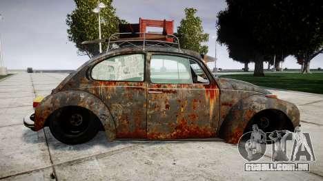 Volkswagen Beetle rust para GTA 4 esquerda vista