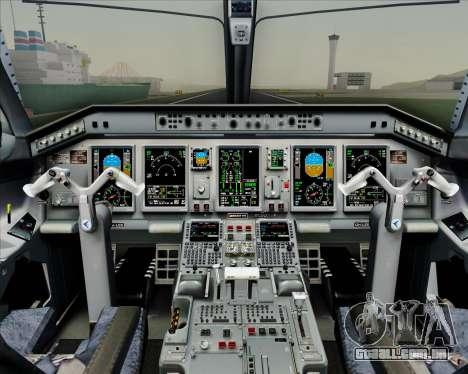 Embraer E-190-200LR House Livery para GTA San Andreas interior