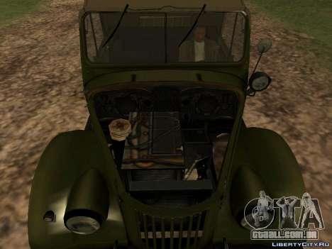 GAZ-69 para GTA San Andreas vista traseira