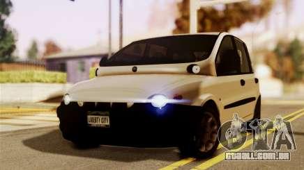 Fiat Multipla Black Bumpers para GTA San Andreas