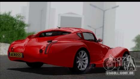 Morgan AeroSS 2013 v1.0 para GTA San Andreas esquerda vista