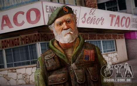 Bill from Left 4 Dead Beta para GTA San Andreas terceira tela