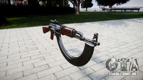 A AK-47 Colimador e HICAP para GTA 4