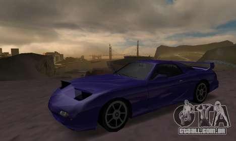 Beta ZR-350 para GTA San Andreas vista traseira