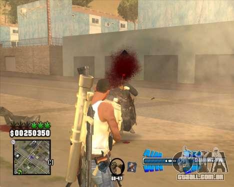 C-HUD Big Cull para GTA San Andreas