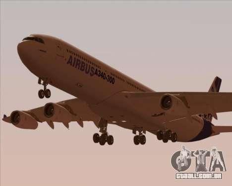 Airbus A340-300 Airbus S A S House Livery para o motor de GTA San Andreas