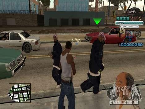 C-HUD Homem em uma Tampa para GTA San Andreas segunda tela