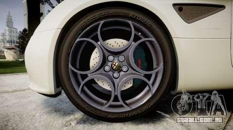 Alfa Romeo 8C Competizione 2008 para GTA 4 vista de volta