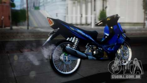 Yamaha Jupiter Z Burhan para GTA San Andreas traseira esquerda vista