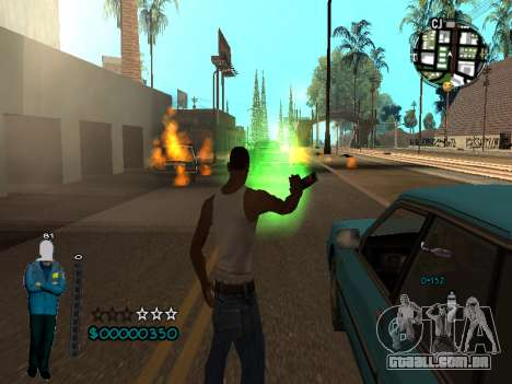 FBI HUD para GTA San Andreas por diante tela