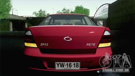 Renault Samsung SM3 2007 para GTA San Andreas vista interior