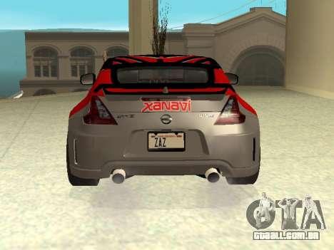 Nissan 370 Z Z34 2010 Ajustável para o motor de GTA San Andreas