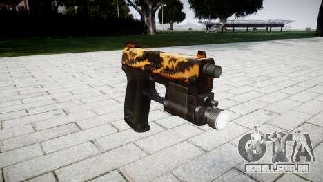 Pistola HK USP 45 tigre para GTA 4