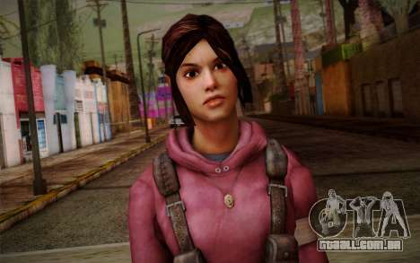 Zoey from Left 4 Dead Beta para GTA San Andreas terceira tela