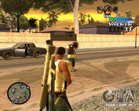 С-HUD de Metro para GTA San Andreas terceira tela