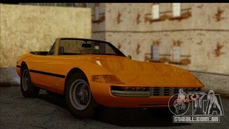 Ferrari 365 GTS4 Daytona (US-spec) 1971 para GTA San Andreas traseira esquerda vista