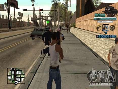 C-HUD Homem em uma Tampa para GTA San Andreas terceira tela