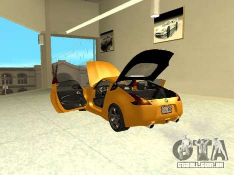 Nissan 370 Z Z34 2010 Ajustável para GTA San Andreas vista interior