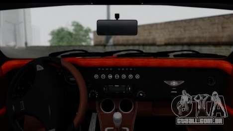Morgan AeroSS 2013 v1.0 para GTA San Andreas traseira esquerda vista