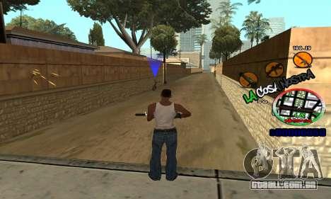 C-HUD La Cosa Nostra para GTA San Andreas por diante tela