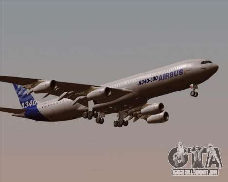 Airbus A340-300 Airbus S A S House Livery para GTA San Andreas vista interior