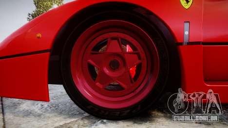 Ferrari F40 1987 [EPM] Tricolore para GTA 4 vista de volta