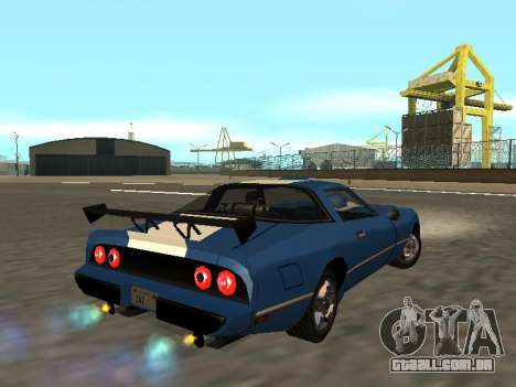 New Phoenix para GTA San Andreas vista interior