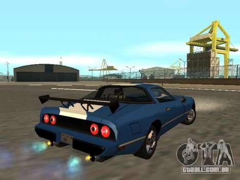 New Phoenix para GTA San Andreas vista interior