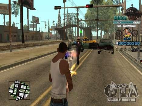C-HUD Homem em uma Tampa para GTA San Andreas quinto tela