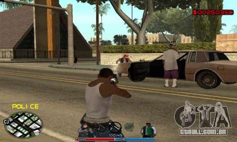 C-HUD Police para GTA San Andreas por diante tela