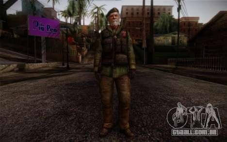 Bill from Left 4 Dead Beta para GTA San Andreas