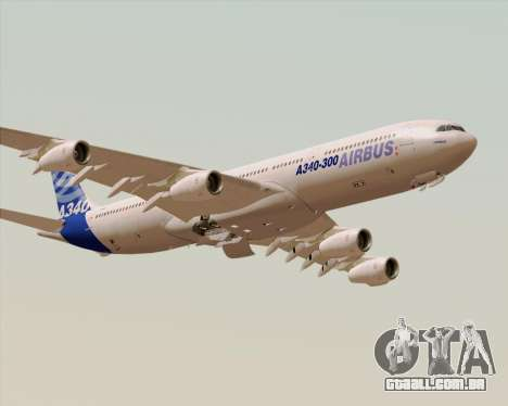 Airbus A340-300 Airbus S A S House Livery para GTA San Andreas vista inferior