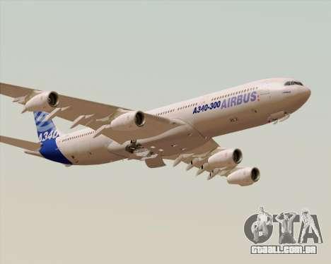Airbus A340-300 Airbus S A S House Livery para GTA San Andreas vista inferior