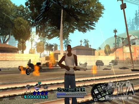 CLEO HUD SWAGG para GTA San Andreas por diante tela