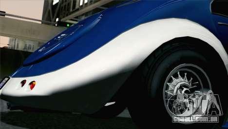 GTA V Truffade Z-Type [HQLM] para GTA San Andreas traseira esquerda vista