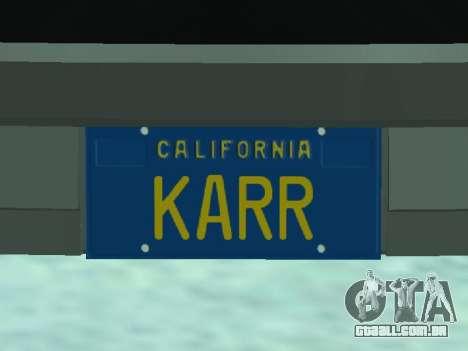 Pontiac Trans-Am K.A.R.R. para GTA San Andreas vista traseira