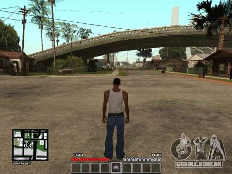 C-Hud Minecraft para GTA San Andreas segunda tela