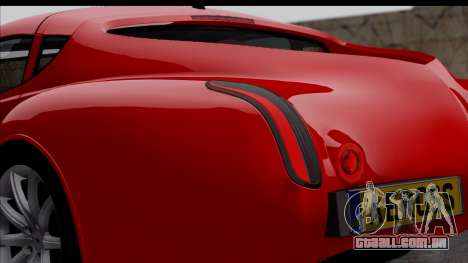 Morgan AeroSS 2013 v1.0 para GTA San Andreas vista traseira