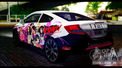 Honda Civic SI 2012 Itasha K-ON para GTA San Andreas esquerda vista