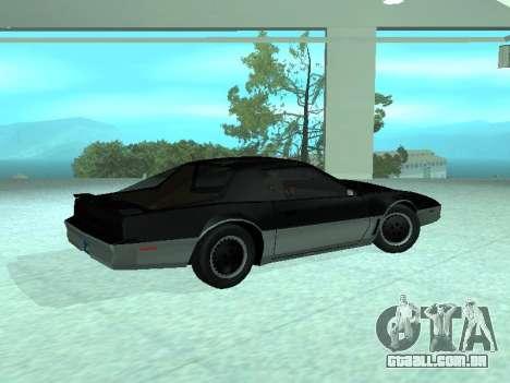 Pontiac Trans-Am K.A.R.R. para GTA San Andreas esquerda vista
